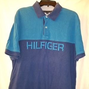 Blue XL Tommy Hilfiger Polo Shirt Hilfiger Written